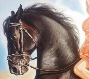 Фрагмент портрета маслом в Тюмени