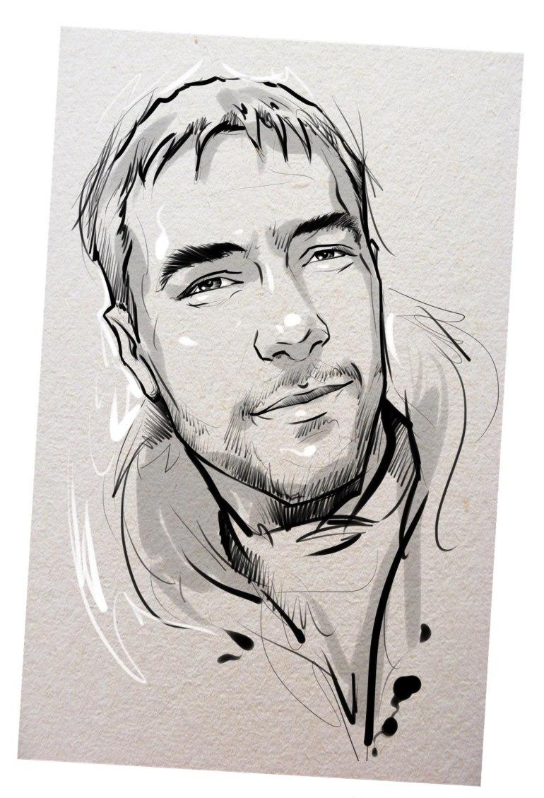 Портрет карандашом любимому мужу в Тюмени…