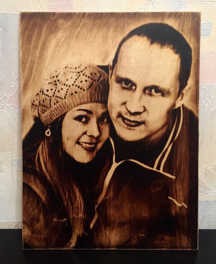 выжигание портретов по дереву на заказ в Тюмени