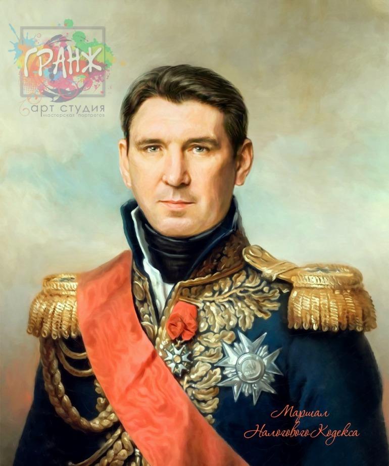 Портрет по фото на холсте в подарок мужчине на 23 февраля Тюмень