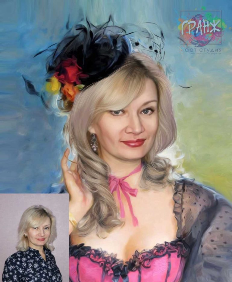 Заказать арт портрет по фото на холсте в Тюмени