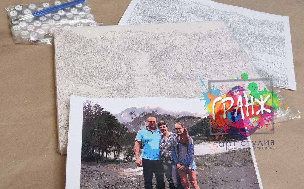 картин по номерам на холсте по фото в Тюмени