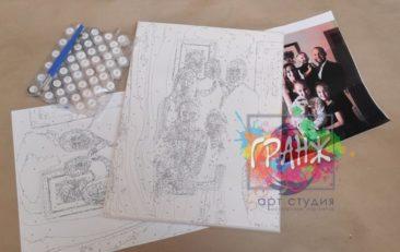 Картина по номерам по фото, портреты на холсте и дереве в Тюмени